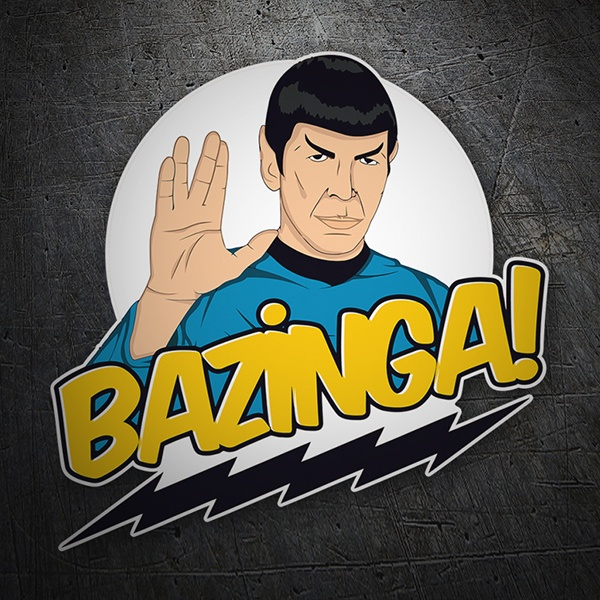Car motorbike stickers spock bazinga