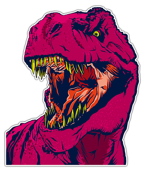 Car & Motorbike Stickers: T-Rex 0