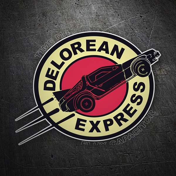 Car and Motorbike Stickers: Delorean Express