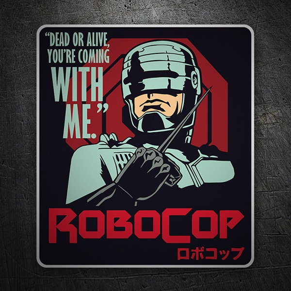 Car & Motorbike Stickers: RoboCop, dead or alive