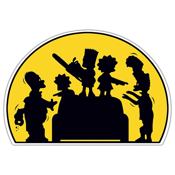 Car & Motorbike Stickers: Simpsons Children armed