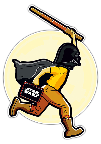 Car and Motorbike Stickers: Tintin Vader