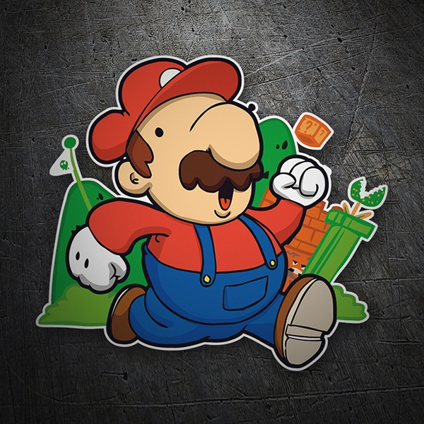 Car & Motorbike Stickers: Super Mario Cartoon