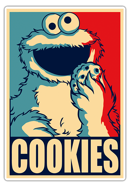 Car & Motorbike Stickers: Monster cookies President