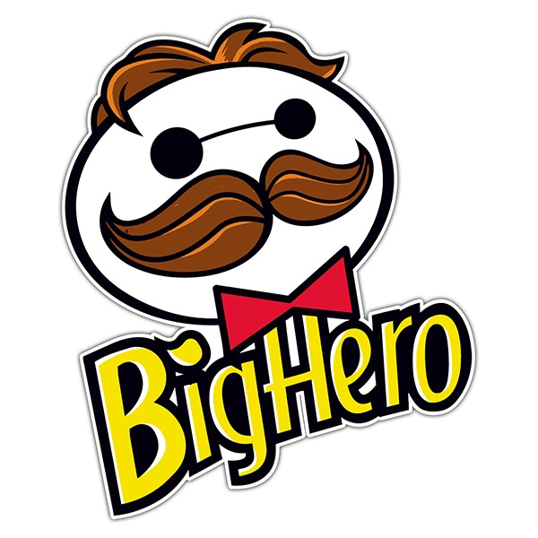 Car & Motorbike Stickers: Big Hero Pringles