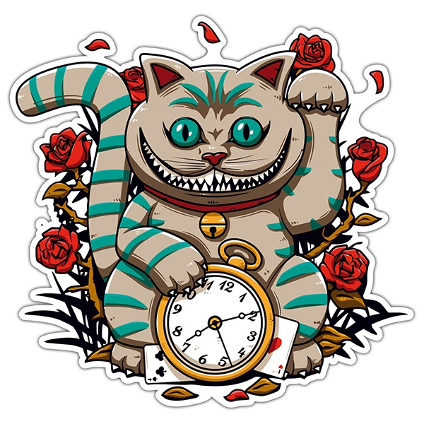 Car & Motorbike Stickers: The Cheshire Cat clock