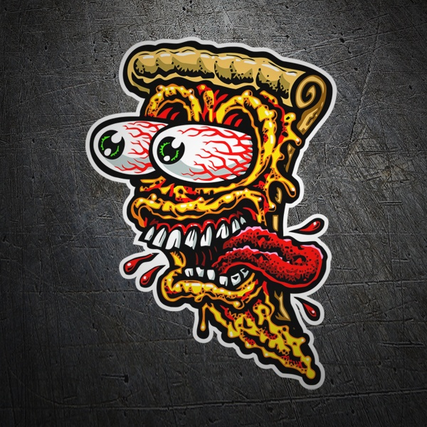 Car & Motorbike Stickers: Pizza face
