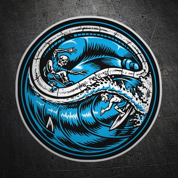 Car & Motorbike Stickers: Surfing with death