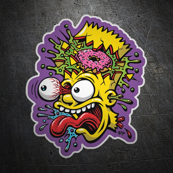 Car and Motorbike Stickers: Bart Simpson Blast