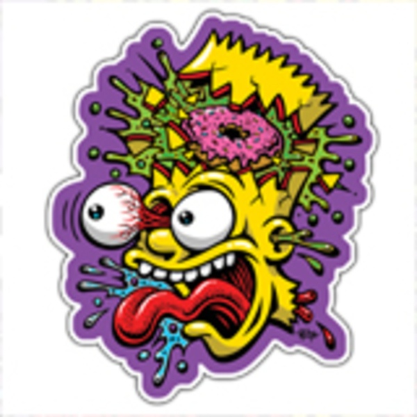 Car & Motorbike Stickers: Bart Simpson Blast