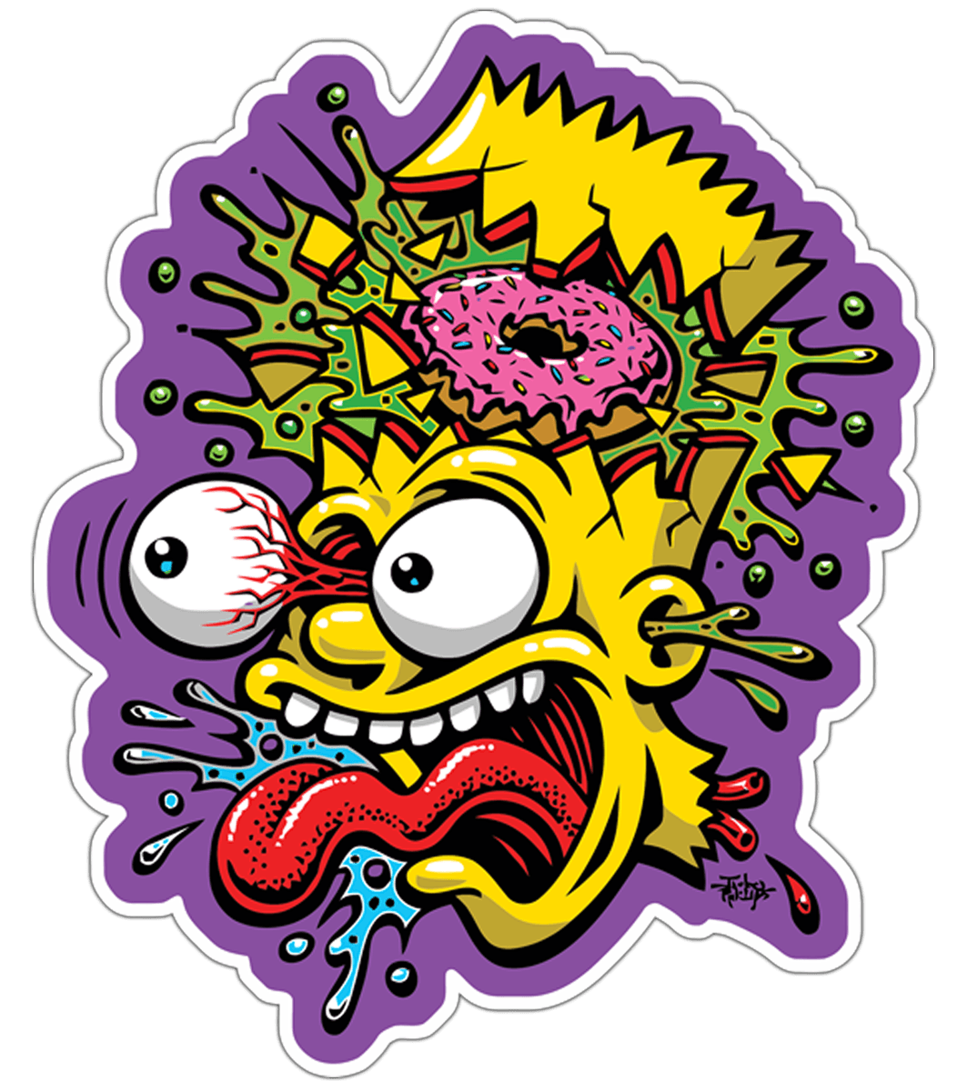 Car & Motorbike Stickers: Bart Simpson Blast 0