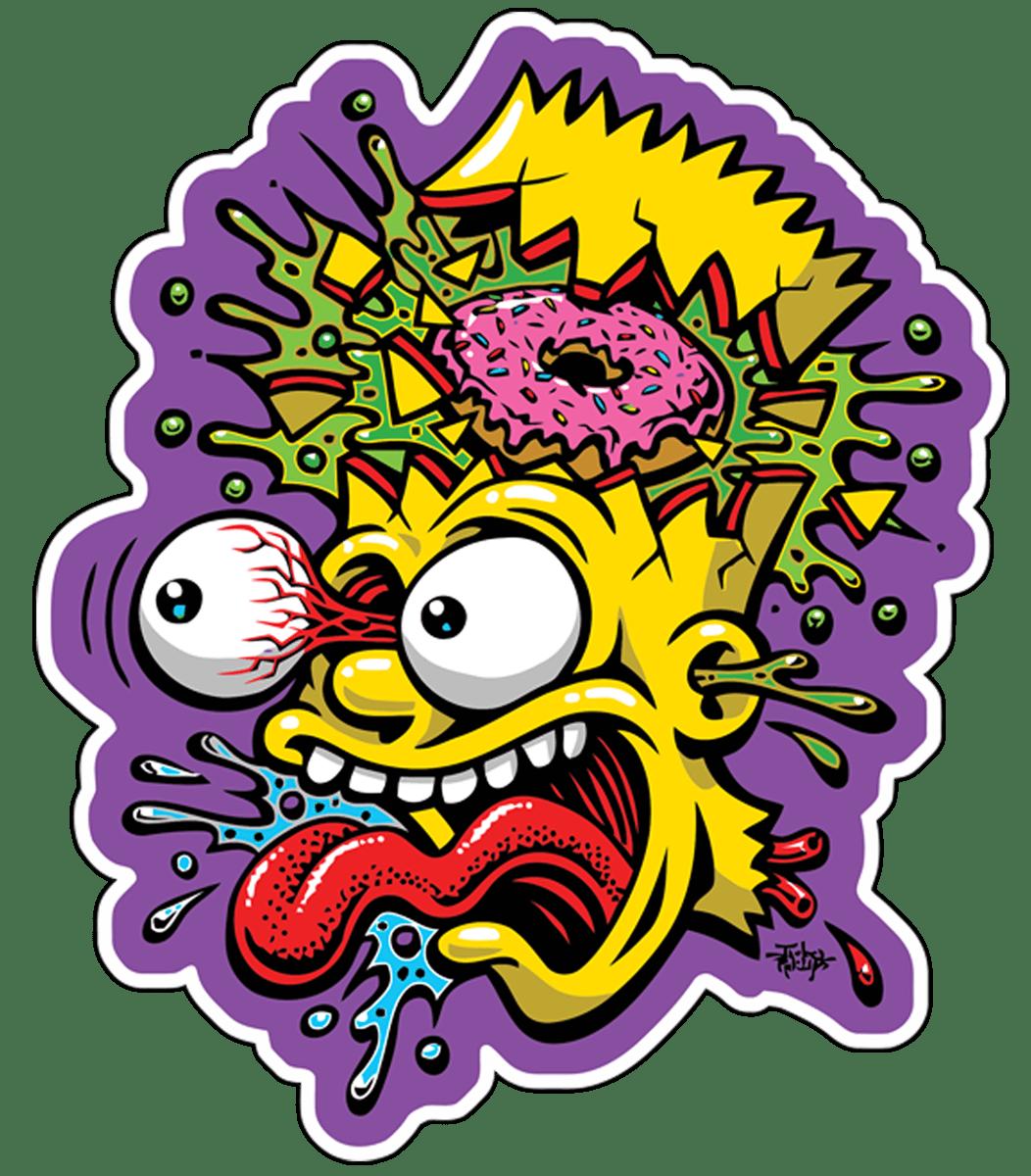 Sticker Bart Simpson Blast Muraldecal Com