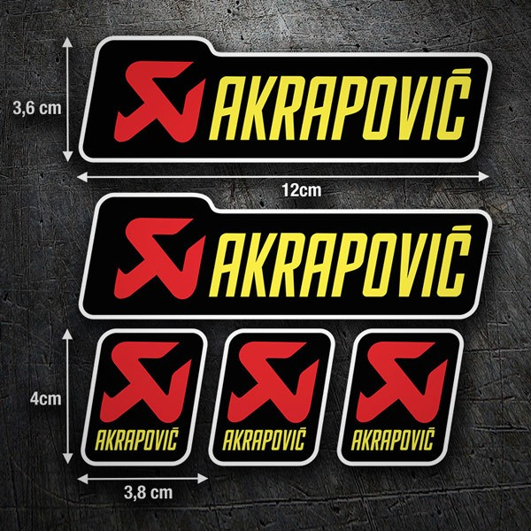 Car & Motorbike Stickers: Set 5X Akrapovic