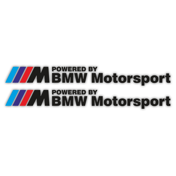 Car & Motorbike Stickers: Kit BMW Motorsport Black