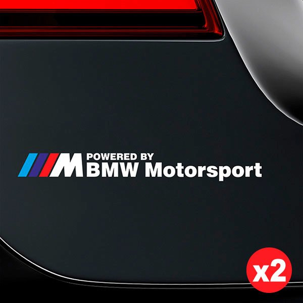 Car & Motorbike Stickers: Kit BMW Motorsport White