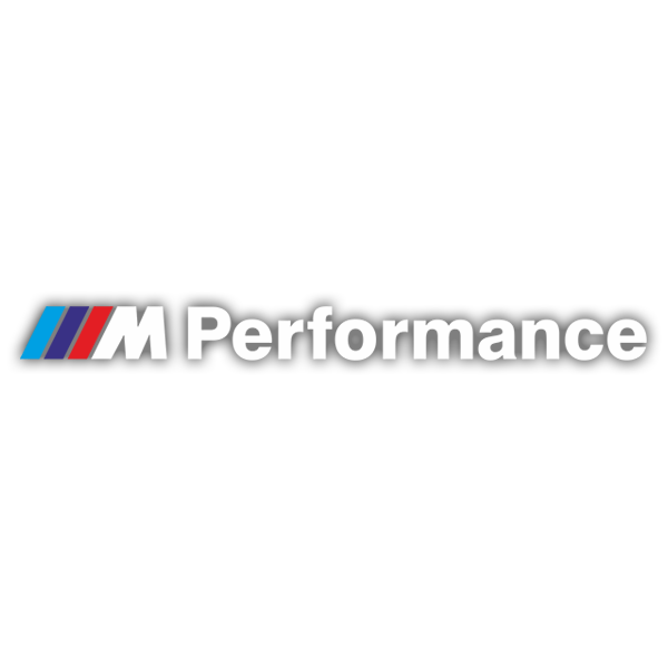 Car & Motorbike Stickers: BMW Performance White