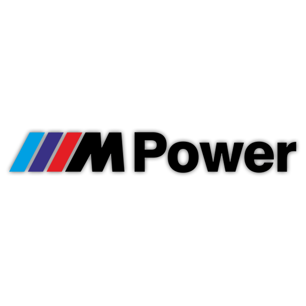 Car & Motorbike Stickers: BMW Power Black