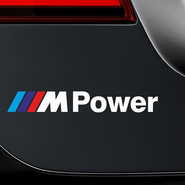 Car & Motorbike Stickers: BMW Power White