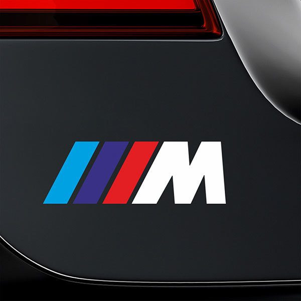 Car & Motorbike Stickers: BMW M-series White