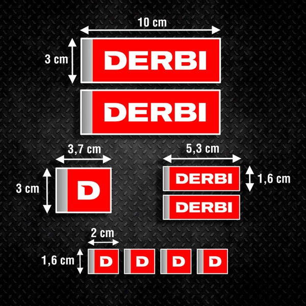 Car & Motorbike Stickers: Set Derbi 9X