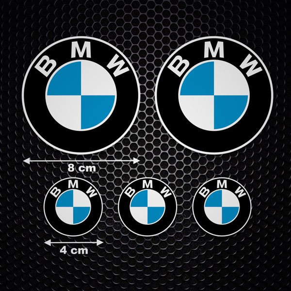 Car & Motorbike Stickers: Set 5X BMW Logo