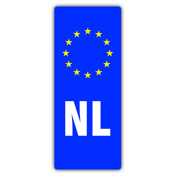 Car & Motorbike Stickers: Registration Netherlands 0