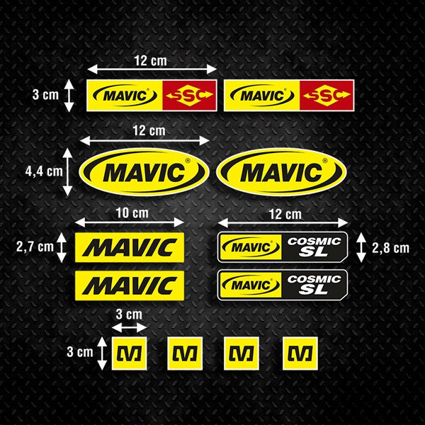 Car & Motorbike Stickers: Kit Mavic