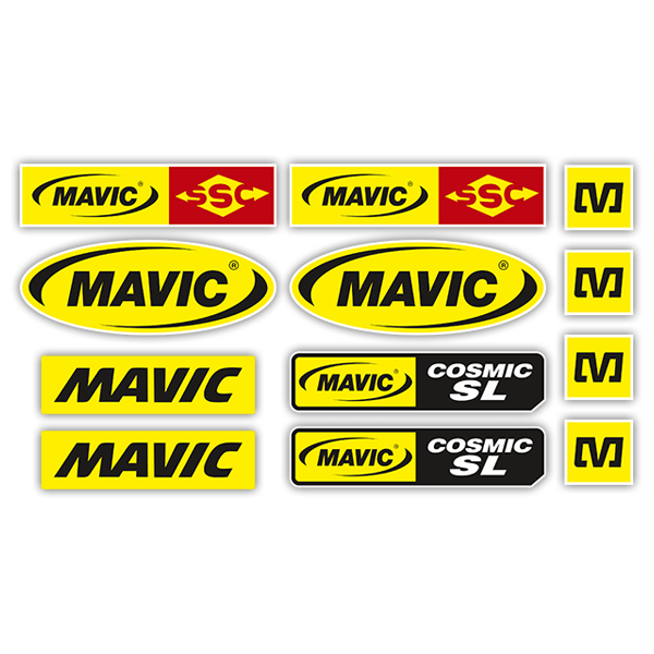 Car & Motorbike Stickers: Sticker Set Mavic
