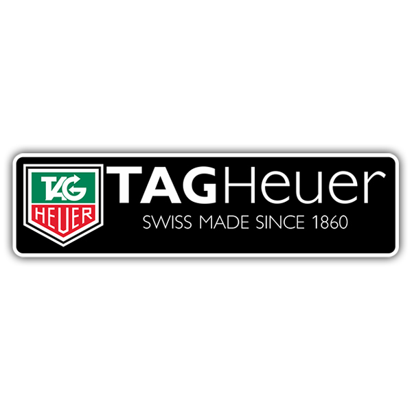 Car & Motorbike Stickers: Tag Heuer Swiss Made Since 1860
