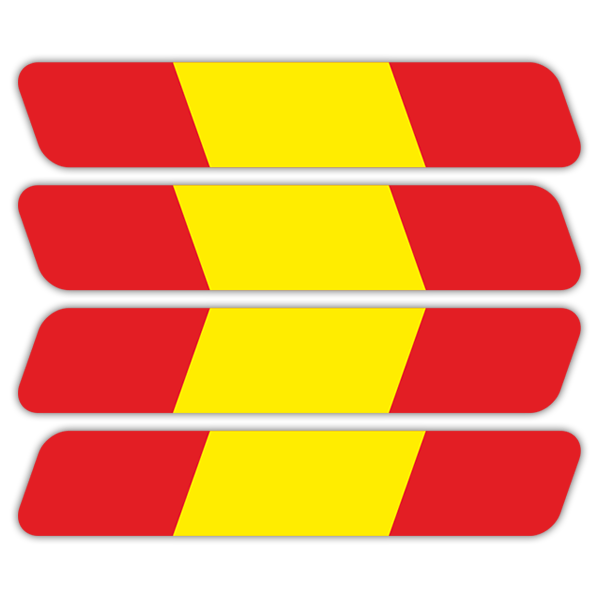 Car & Motorbike Stickers: Kit Helmet Spain flag