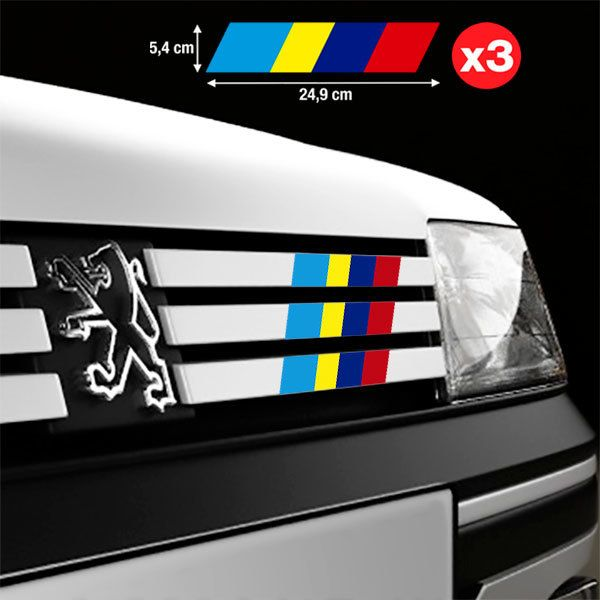 Car & Motorbike Stickers: Set 3X Peugeot Sport