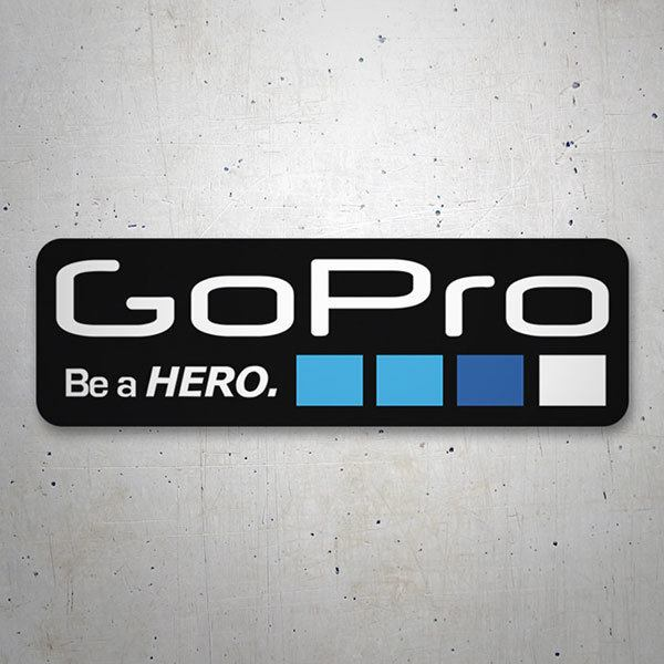 Car & Motorbike Stickers: GoPro black