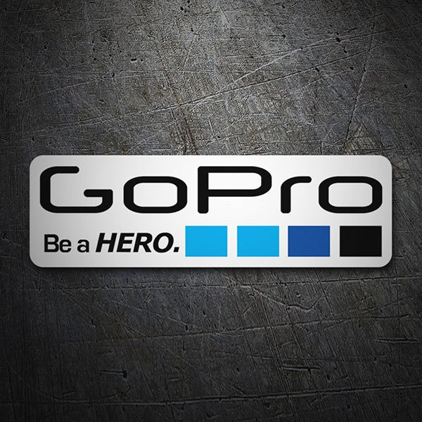 Car & Motorbike Stickers: GoPro white 1