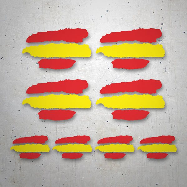 Car & Motorbike Stickers: Spain flag Kit