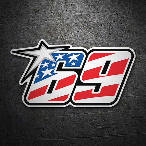 Car & Motorbike Stickers: Nicky Hayden 69