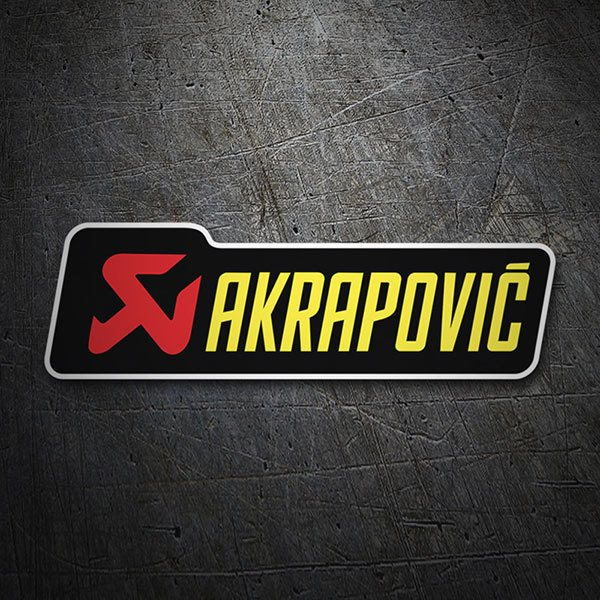 Car & Motorbike Stickers: Akrapovic Yellow letters