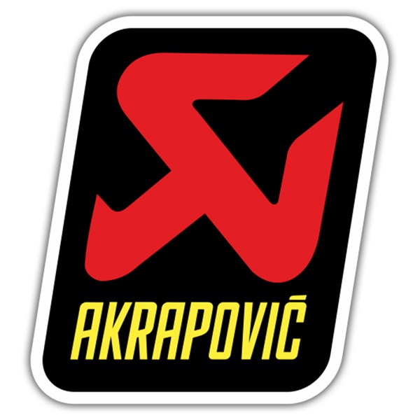 Car & Motorbike Stickers: Akrapovic Logo