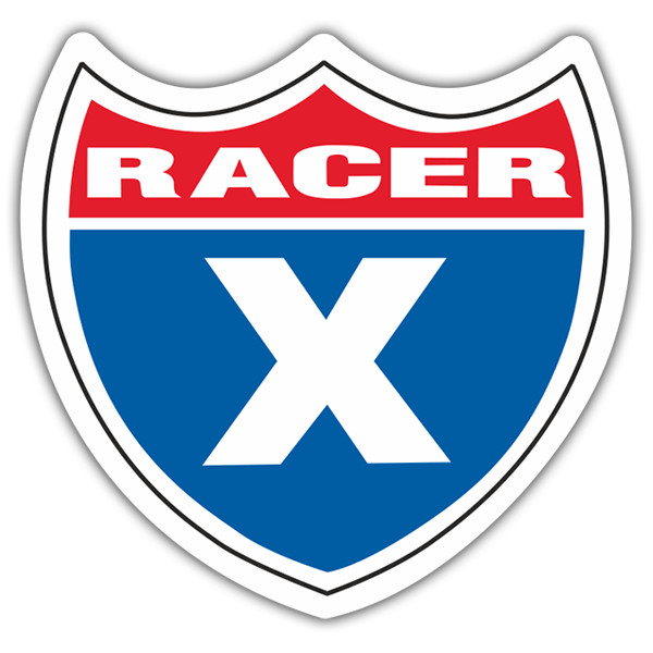Car & Motorbike Stickers: Racer X