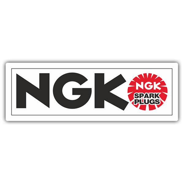 Car & Motorbike Stickers: NGK Spark Logo