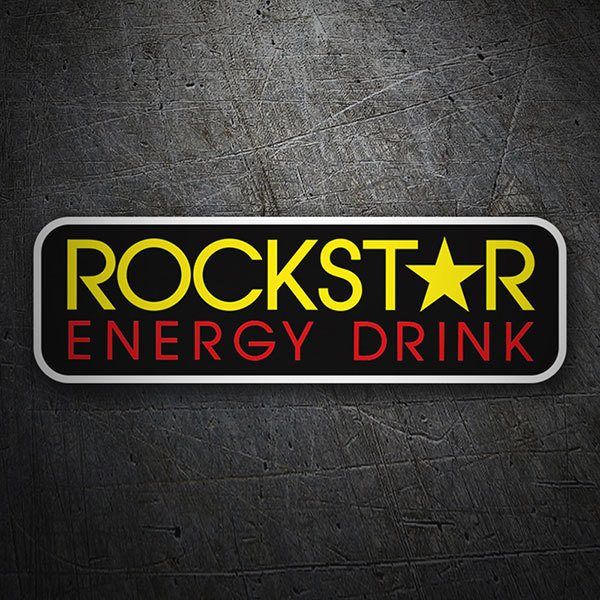 Car & Motorbike Stickers: Rockstar Energy Drink Logo