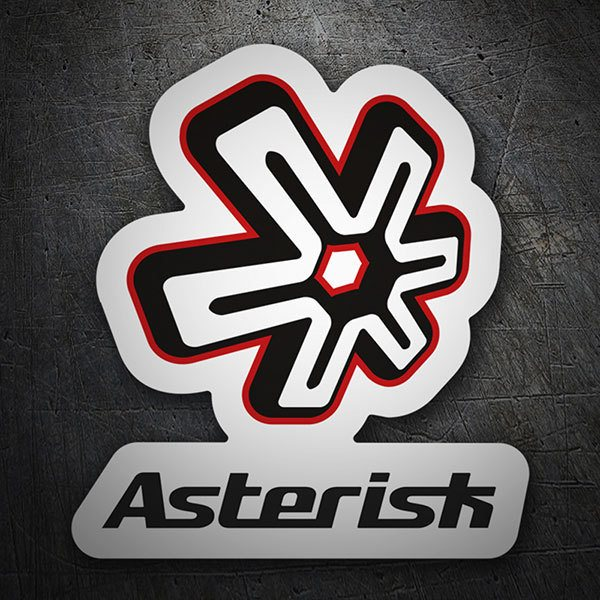 Car & Motorbike Stickers: Asterisk Logo 1