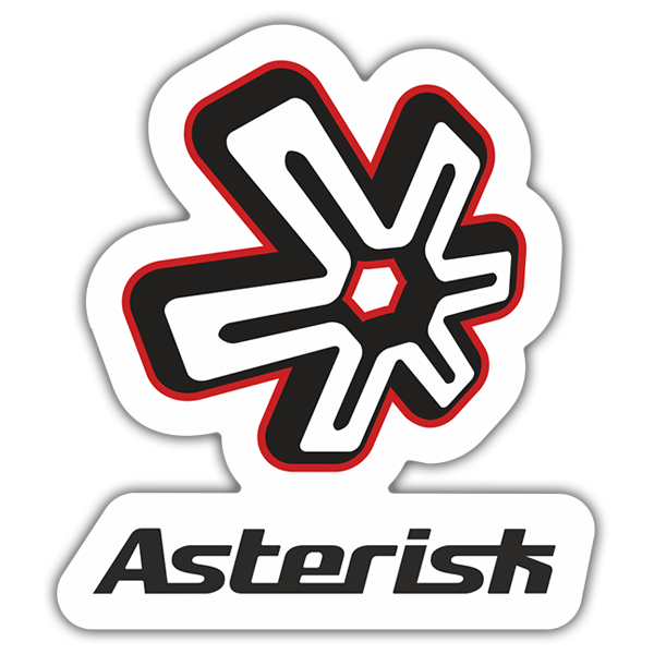 Car & Motorbike Stickers: Asterisk Logo