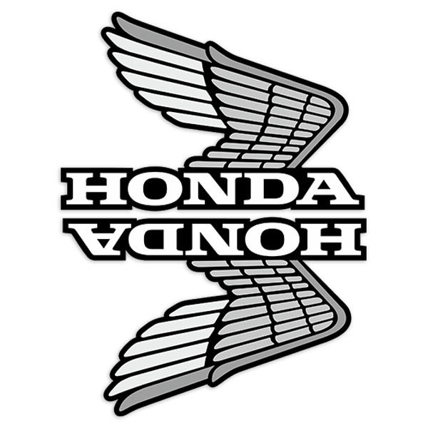 Car Motorbike Stickers Kit Tank Retro Honda Wings