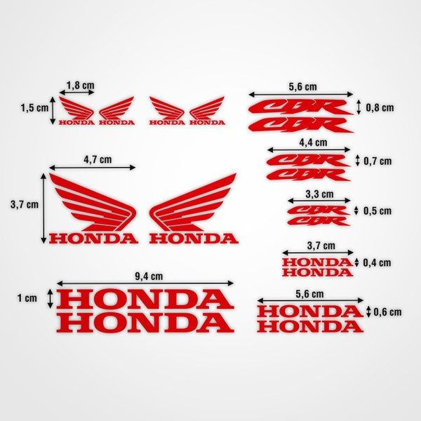 Car and Motorbike Stickers: Kit Honda CBR Racing