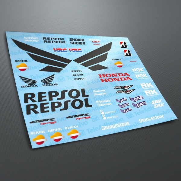 Car and Motorbike Stickers: Kit Honda CBR Repsol Racing