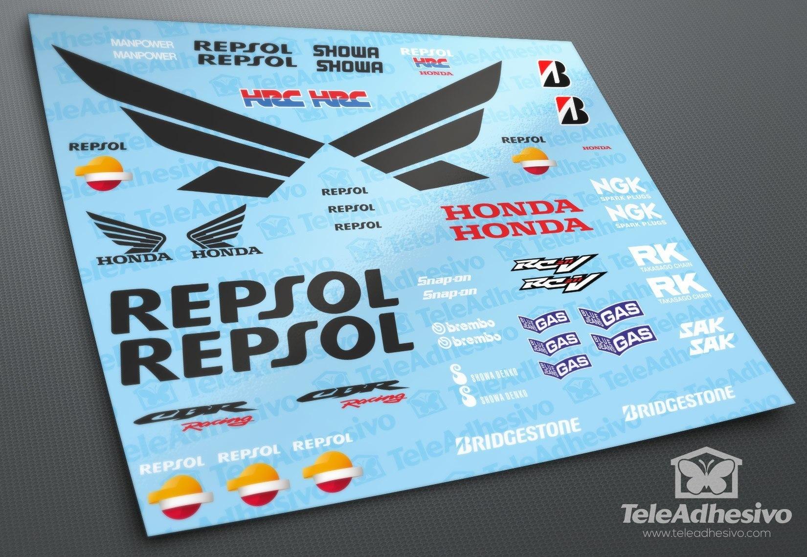 Car Amp Motorbike Stickers Kit Honda Cbr Repsol Racing