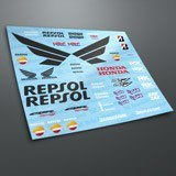 Car & Motorbike Stickers: Kit Honda CBR Repsol Racing 3