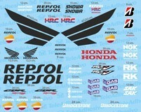 Car & Motorbike Stickers: Kit Honda CBR Repsol Racing 4