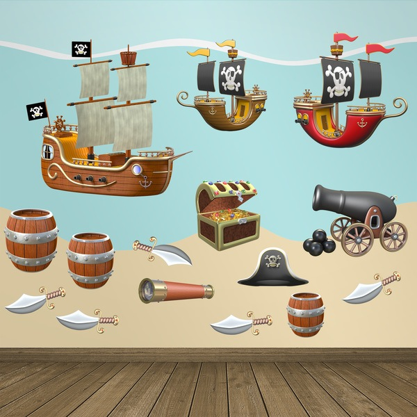 Stickers for Kids: Pirate Adhesives Kit