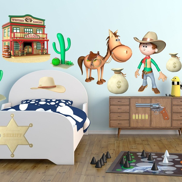 Stickers for Kids: Kit western cowboys